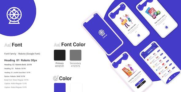 LottLab - Online Lottery Mobile App UI Kit