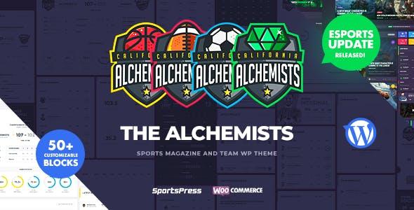 Alchemists - Sports, eSports & Gaming Club and News WordPress Theme