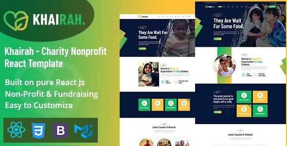 Khairah - Charity Nonprofit React Template - Charity Nonprofit