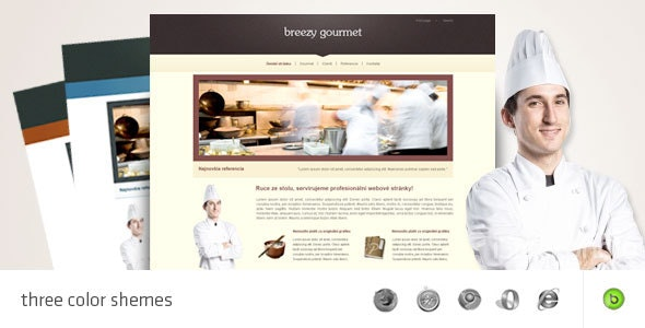 Gourmet - HTML/CSS portfolio and business template - Business Corporate