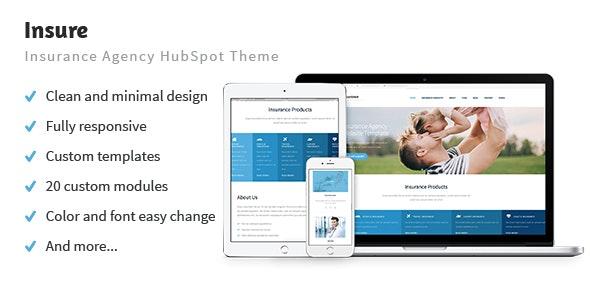 Insure - Insurance Agency HubSpot Theme - Corporate HubSpot CMS Hub