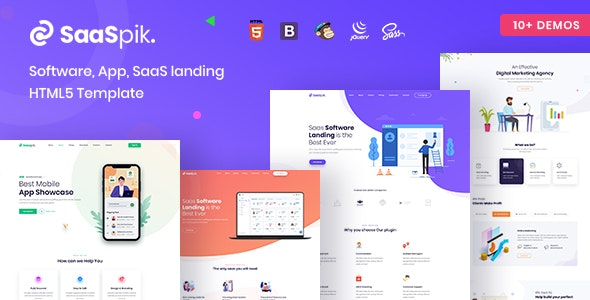 SaaSpik - App and SaaS landing HTML Template - Technology Site Templates