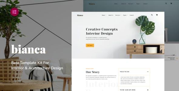 Bianca | Architecture & Interior Elementor Template Kit