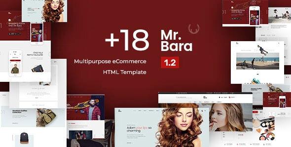 Mr.Bara - Multipurpose eCommerce HTML Template - Shopping Retail