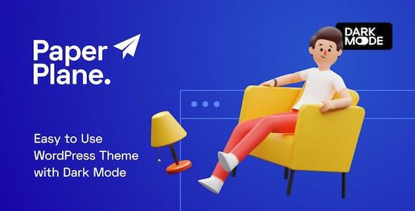 Paper Plane - Creative Parallax WordPress Blog Theme