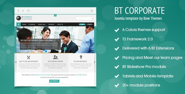 BT Corporate Template For Joomla 2.5 - Corporate Joomla