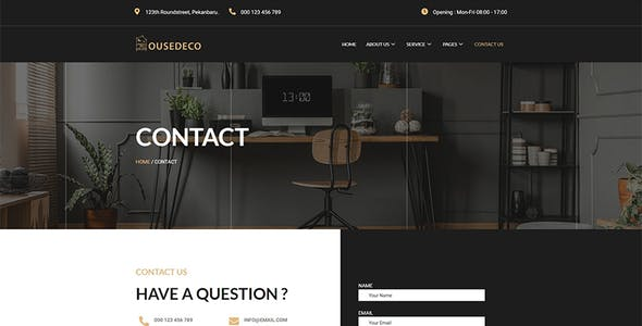 Housedeco - Interior Design Elementor Template Kit