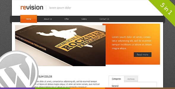 Revison - Premium Wordpress Theme - Personal Blog / Magazine