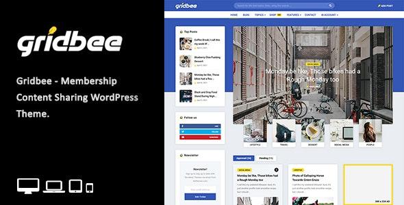 Gridbee - Content Sharing WordPress Theme - Personal Blog / Magazine