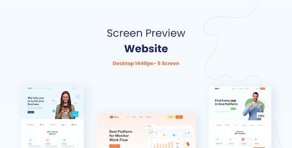 Agencico-Landing Page Templates & UI Kit XD Template