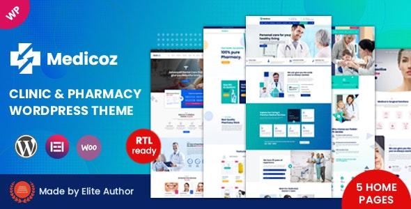 Medicoz - Clinic & Pharmacy WordPress Theme - Health & Beauty Retail