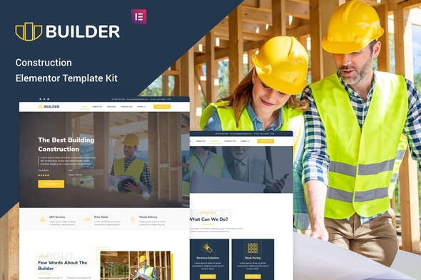 The Builder - Construction & Architecture Elementor Template Kit - Real Estate & Construction Elementor