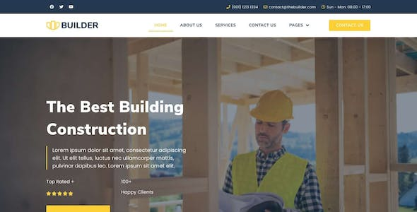 The Builder - Construction & Architecture Elementor Template Kit