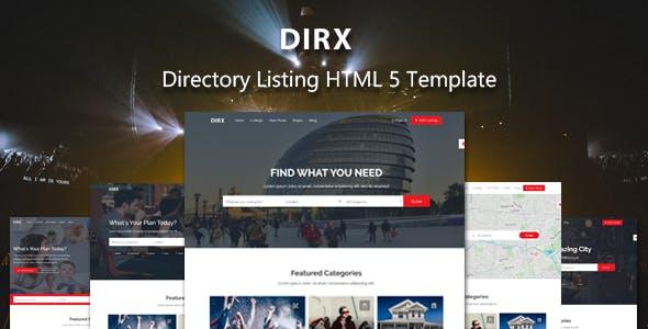 DirX - Directory Listing HTML Template