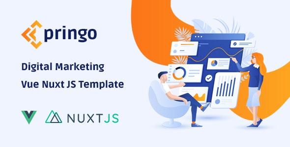 Pringo - Digital Marketing Vue JS Template - Business Corporate