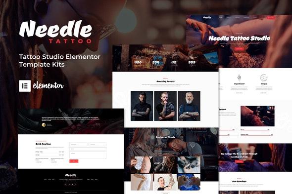 Needle - Tattoo Studio Elementor Template Kit - Business & Services Elementor