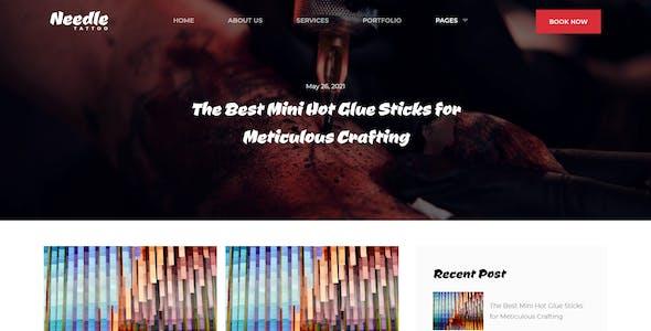 Needle - Tattoo Studio Elementor Template Kit