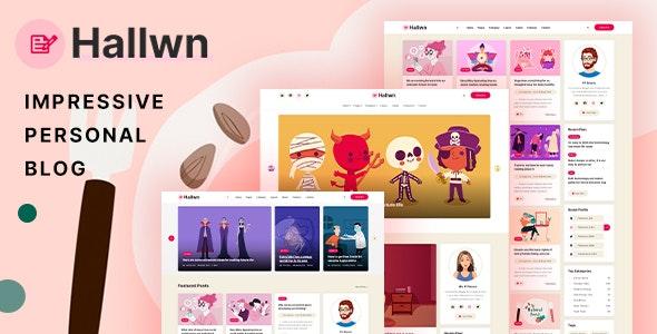 Hallwn - Impressive Personal Blog XD Template - Miscellaneous Adobe XD