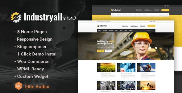 Industryall - Industrial & Factory WordPress Theme - Business Corporate