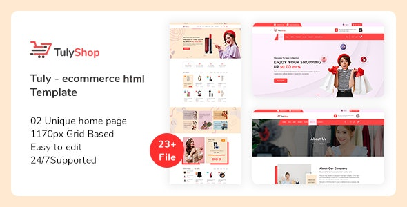 Tuly - eCommerce HTML Template - Shopping Retail