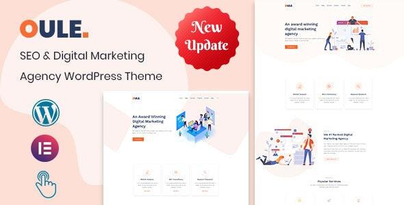 Oule – SEO and Digital Marketing Agency WordPress Theme - Marketing Corporate