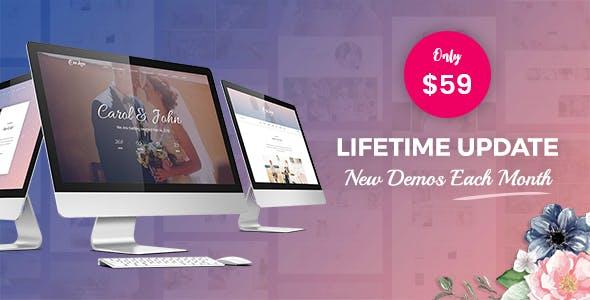 OneLove - The Elegant & Clean Multipurpose Wedding WordPress Theme