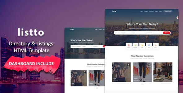 Listto - Directory Listing HTML Template