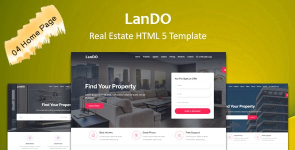 LanDo - Real Estate HTML Template