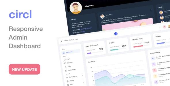 Circl - Responsive Admin Dashboard Template - Admin Templates Site Templates