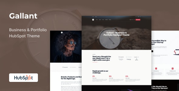 Gallant - Business & Portfolio HubSpot Theme - Creative HubSpot CMS Hub
