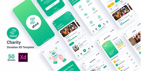 Gfund – Charity Donation Adobe XD Template
