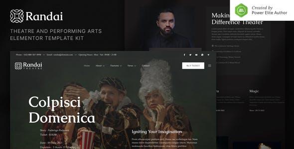 Randai – Theater Entertainment & Performing Arts Elementor Template Kit