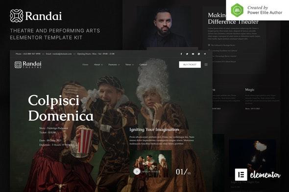 Randai – Theater Entertainment & Performing Arts Elementor Template Kit - Events & Entertainment Elementor