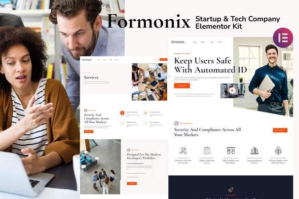 Formonix - Startup & Tech Company Elementor Template Kit - Creative & Design Elementor