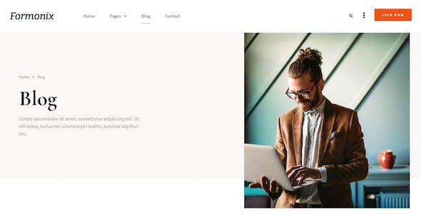 Formonix - Startup & Tech Company Elementor Template Kit