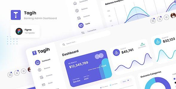 Tagih - Simple Neat Banking Admin Dashboard Figma