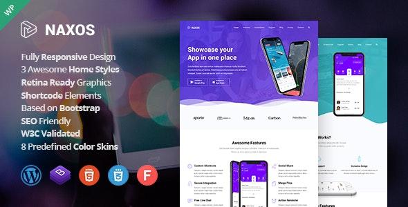 Naxos - App Landing Page WordPress Theme - Software Technology