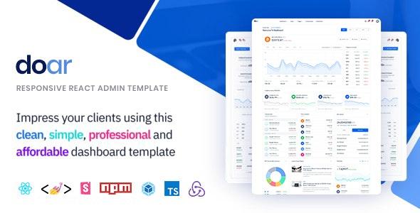 Doar – Responsive React Admin Template - Admin Templates Site Templates