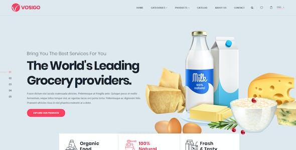 Vosigo Food and Grocery PSD Template