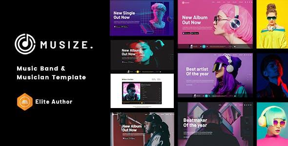 Musize - Music Band & Musician Template