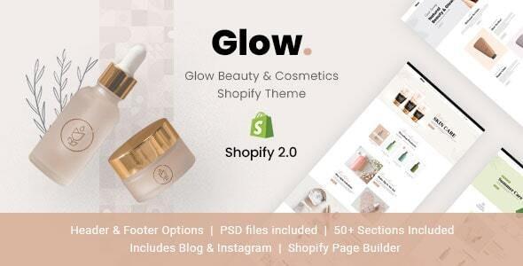 Glow - Beauty & Cosmetics Shopify Theme - Health & Beauty Shopify