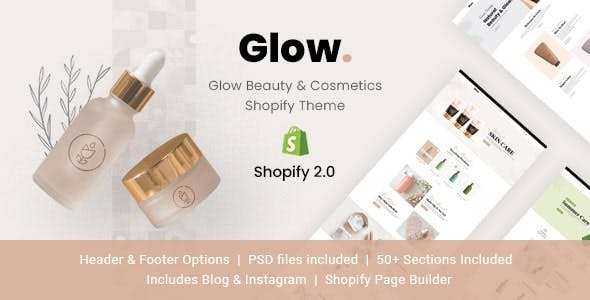 Glow - Beauty & Cosmetics Shopify Theme
