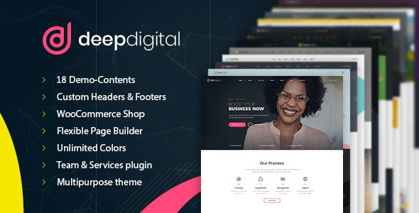 DeepDigital – Web Design Agency WordPress Theme - Marketing Corporate