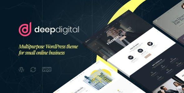 DeepDigital – Web Design Agency WordPress Theme