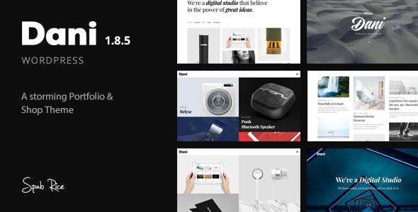 Dani - A Storming Portfolio & Shop WordPress Theme - Portfolio Creative