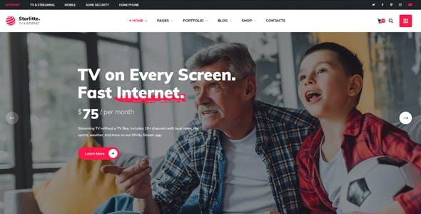 Starlitte - TV & Internet Provider WordPress Theme