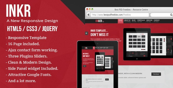 INKR: multi-purpose responsive html5 template - Creative Site Templates