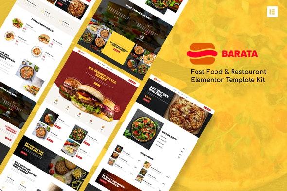 Barata - Fast Food & Burger Elementor Template Kit - Food & Drink Elementor