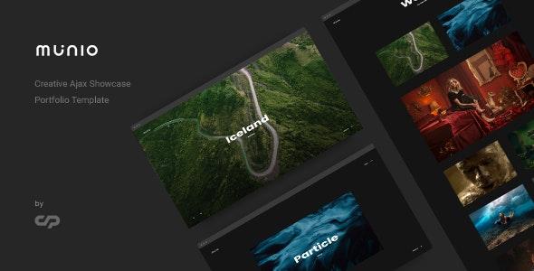 Munio - Creative Ajax Portfolio Showcase Slider Template - Portfolio Creative