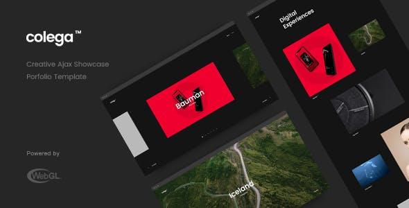 Colega - Creative Ajax Portfolio Showcase Slider Template